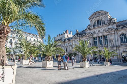 Place du Ralliement et Théâtre, Angers, France Canvas Print