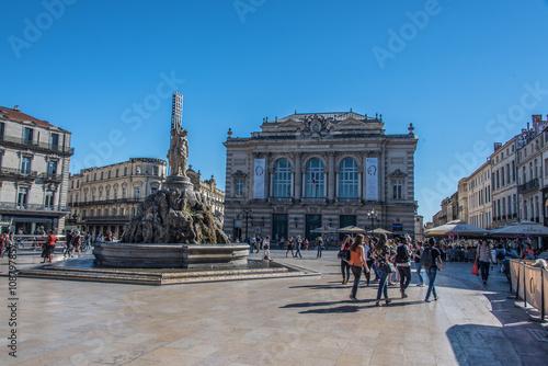 Fotografía  Montpellier, Place de la Comédie, France