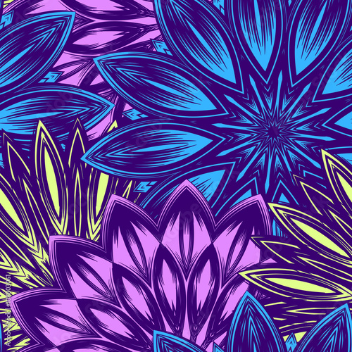 Seamless floral background Canvas Print