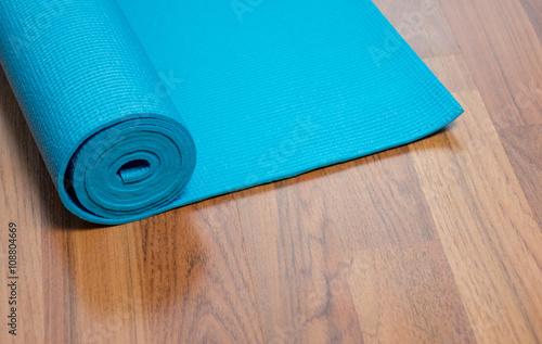 Acrylic Prints Stones in Sand Blue yoga mat