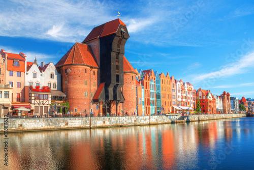 Obraz Gdańsk w pogodny dzień - fototapety do salonu