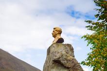 NORHT OSSETIA, RUSSIA - OCT 4 2015: Statue To Joseph Stalin On O