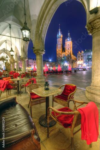 Kraków stare miasto nocą