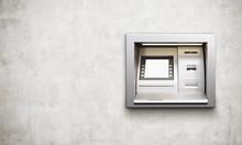 ATM Machine Concrete Background