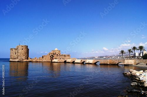 Fotobehang Midden Oosten Sea Castle, Saida, Lebanon