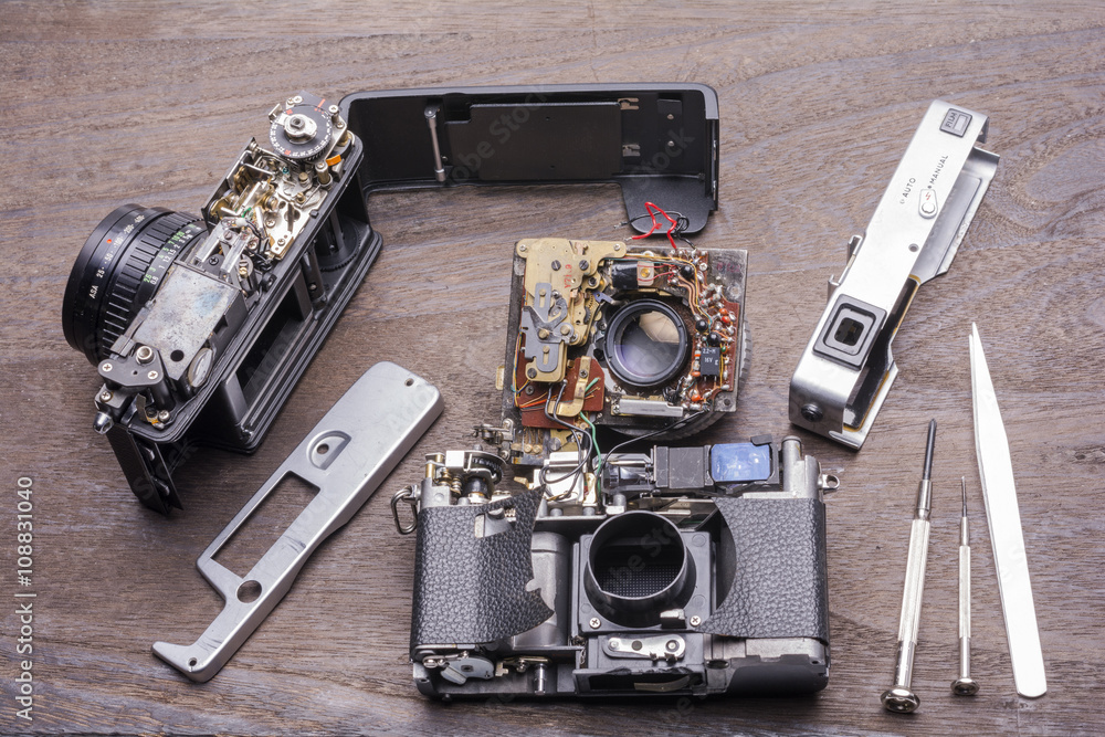 Entfernungsmesser Für Auto : Zerlegte entfernungsmesser filmkamera foto poster wandbilder bei