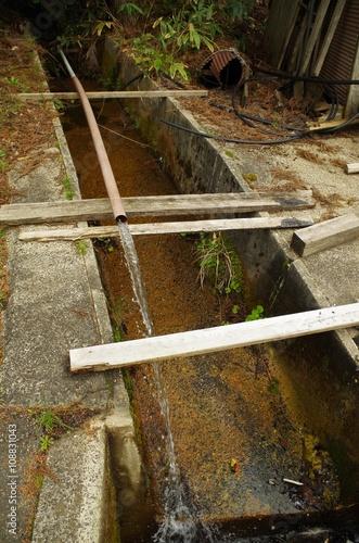Fotografia, Obraz  排水溝と放水