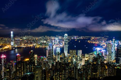 Photo  香港 ビクトリアピークからの風景 夕景・夜景
