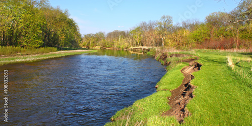 Printed kitchen splashbacks River Kishwaukee River Erosion Illinois
