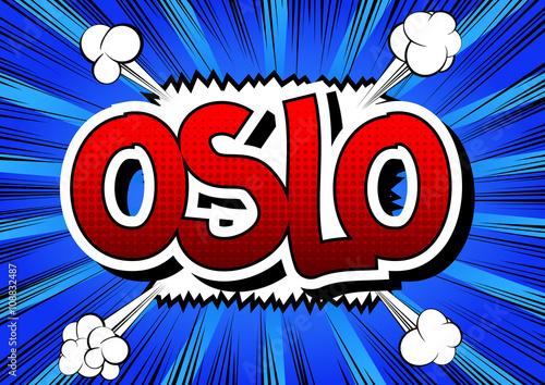 Photo  Oslo - Comic book style word.
