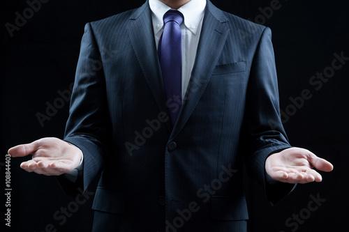 Fotografia  ビジネスマン、ウェルカム、両手
