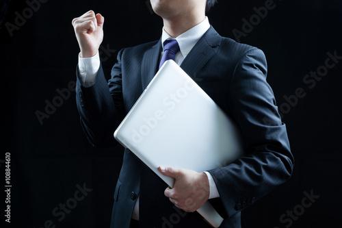Fotografia  ビジネスマン、ラップトップ、ノートパソコン