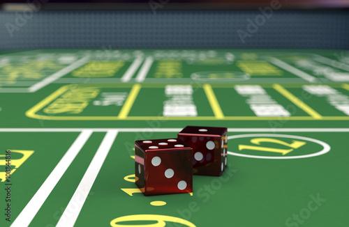 gambling, craps game Wallpaper Mural