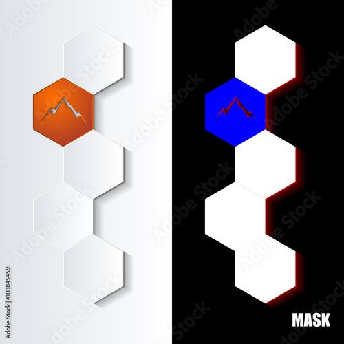 Hexagons_Orange_Icon_Vertical Canvas Print