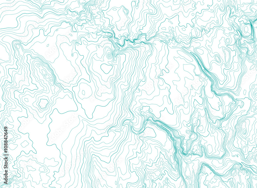 Fototapeta abstract topographic map, vector background