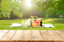Table Background And Picnic Ti...