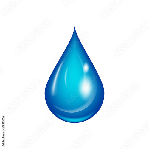 Water drop vector illustration. Tapéta, Fotótapéta