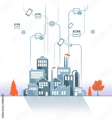Poster de jardin Route Smart Company Design