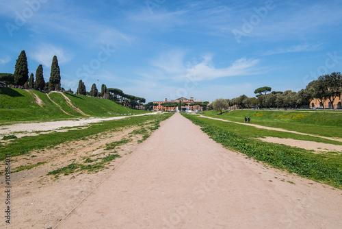 Circus Maximus: ancient Roman stadium, the Palatine hill Canvas Print