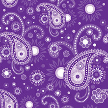 Violet And Purple Paisley Seam...