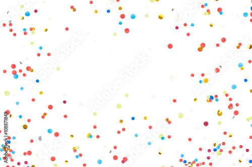 Obraz Colorful Confetti in front of White Background - fototapety do salonu