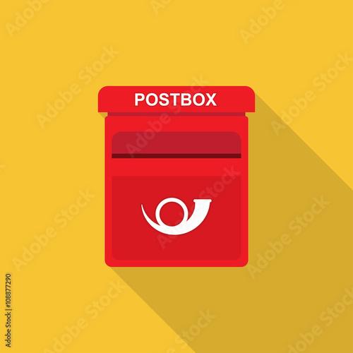 Valokuva postbox Flat design.