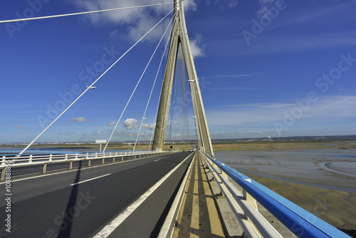 Poster Bridges Perspective sur le pont de Normandie, Calvados