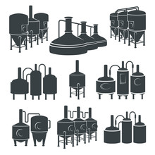 Set - Beer Brewery Elements, I...