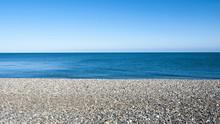 Seascape With Pebble Stone Bea...