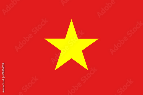 Flag of Vietnam Wallpaper Mural
