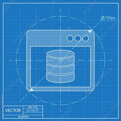 Database program window blueprint style buy this stock vector and database program window blueprint style malvernweather Image collections