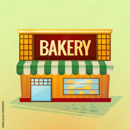 Foto op Plexiglas Op straat Bakery shop, vector illustration