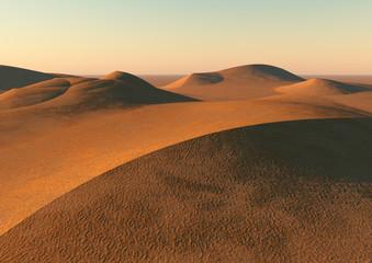 Fototapeta na wymiar 3D illustration of sandy dunes