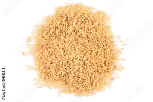 Fototapeta pile of brown rice obraz na płótnie