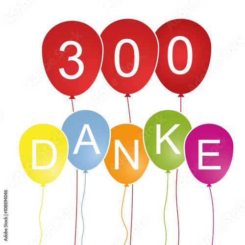 Fotografia  300 Danke - Luftballons