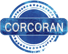 Corcoran Grunge Blue Stamp. Is...