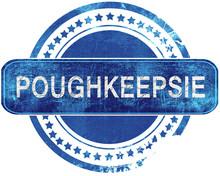 Poughkeepsie Grunge Blue Stamp. Isolated On White.