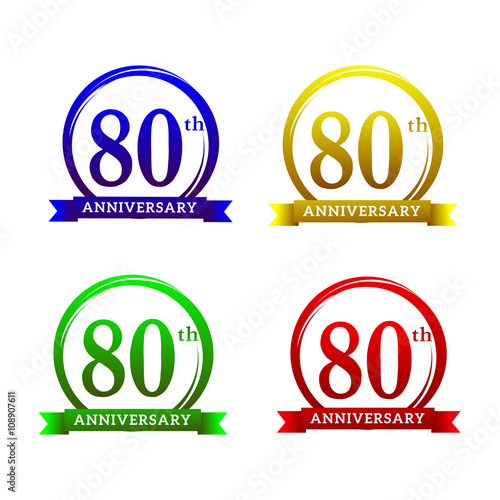 80 th anniversary label template buy this stock vector and explore