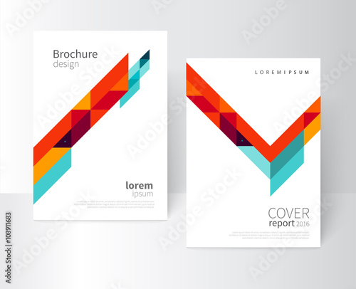 brochure design flyer booklet annual report cover template a4