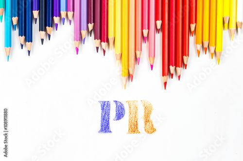 Fotografía  PR drawing by colour pencils