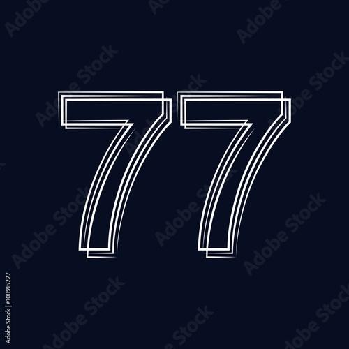Fotografie, Obraz  number 77 outline storke