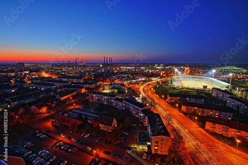 Photo  Wolfsburg Syline by night