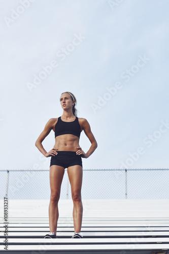 Young athlete on stadium