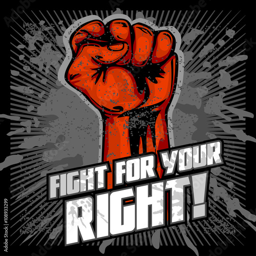 Hand Up Proletarian Revolution - Fist of revolution  Human hand up