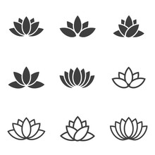 Vector Black Lotus Icons Set O...