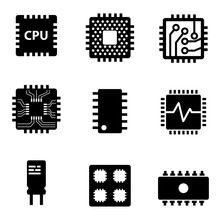 Vector Black CPU Microprocesso...