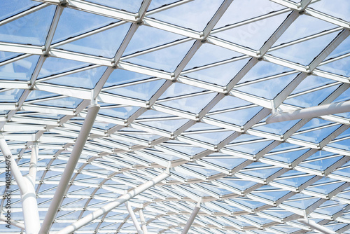 Steel glass roof ceiling wall construction transparent