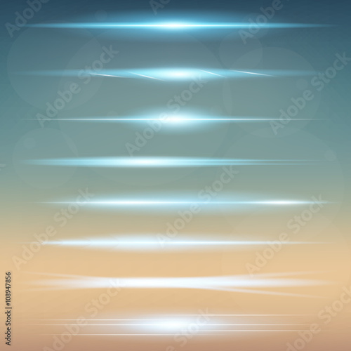 Obraz Creative concept Vector set of glow light effect stars bursts with sparkles isolated on black background. For illustration template art design, banner for Christmas celebrate, magic flash energy ray - fototapety do salonu