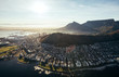 canvas print picture Birds eye view of city of cape town with buildings