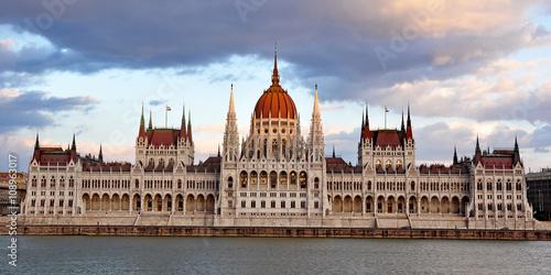 Fotografie, Obraz  Parlament in Budapest, Ungarn